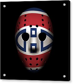 Canadiens Goalie Mask Acrylic Print by Joe Hamilton