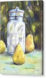 Canned Pears  Acrylic Print by Claude Schneider