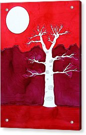 Canyon Tree Original Painting Acrylic Print by Sol Luckman