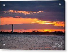 Cape May Lighthouse Sunset Acrylic Print