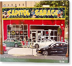 Capitol Garage Acrylic Print by Paul Guyer