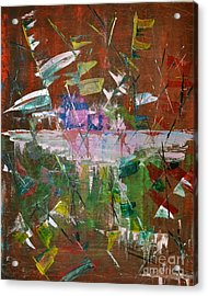 Acrylic Print featuring the painting Capture The Flag by Denise Tomasura