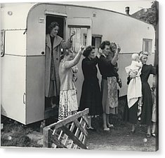 Caravan Site Eviction Force Withdraws Acrylic Print by Retro Images Archive