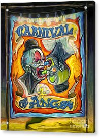 Carnival Of Angst Acrylic Print by Gregory Dyer