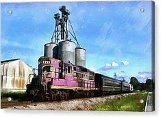 Carolina Southern Railroad Acrylic Print by Joseph C Hinson Photography