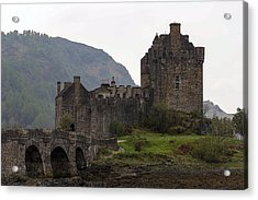 Cartoon - Structure Of The Eilean Donan Castle With A Stone Bridge Acrylic Print