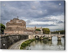 Castle St Angelo In Rome Italy Acrylic Print