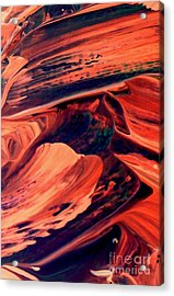 Acrylic Print featuring the painting Catalyst by Jacqueline McReynolds