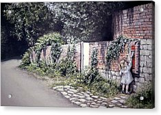 Acrylic Print featuring the painting Catching The Post by Rosemary Colyer
