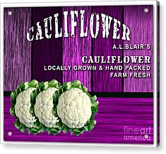 Cauliflower Farm Acrylic Print by Marvin Blaine