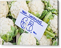 Cauliflower Acrylic Print by Tom Gowanlock