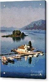Panagia Vlachernon Monastery In Corfu Island Acrylic Print