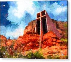 Chapel Of The Holy Cross Sedona Arizona Red Rocks Acrylic Print
