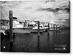 Charter Fishing Boats Charter Boat Row City Marina Key West Florida Usa Acrylic Print by Joe Fox