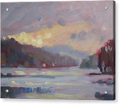 Acrylic Print featuring the painting Cheshire Lake by Len Stomski