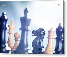 Chess Match Acrylic Print by Tek Image