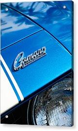 Chevrolet Camaro Emblem Acrylic Print by Jill Reger