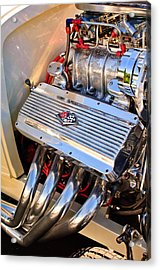 Chevrolet Corvette Engine Acrylic Print by Jill Reger