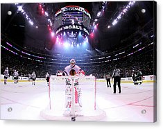 Chicago Blackhawks V Los Angeles Kings Acrylic Print by Jeff Gross
