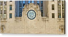 Chicago Board Of Trade Acrylic Print by John Babis