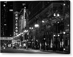 Chicago Theatre At Night Acrylic Print