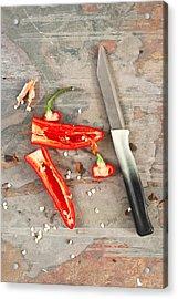 Chilli Pepper Acrylic Print by Tom Gowanlock