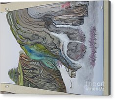 Chinese Landscape Painting Acrylic Print