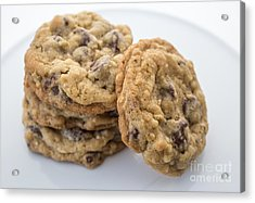 Chocolate Chip Cookies Acrylic Print by Edward Fielding
