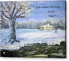 Christmas At The Vale Acrylic Print by Rita Brown