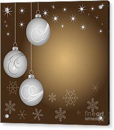 Christmas Background Acrylic Print by Michal Boubin