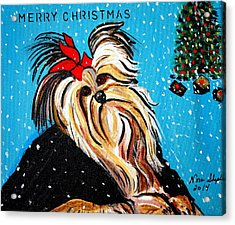 Acrylic Print featuring the painting Christmas Card by Nora Shepley