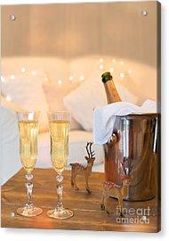 Christmas Champagne Acrylic Print