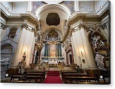 Church Of Santa Barbara Interior In Madrid Acrylic Print by Artur Bogacki