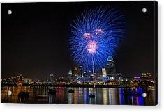 Cincinnati Reds Fireworks  Acrylic Print