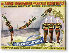 Acrylic Print featuring the painting Circus Poster, C1898 by Granger