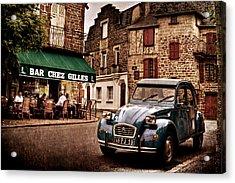 Acrylic Print featuring the photograph Citroen 2cv In French Village / Meyssac by Barry O Carroll