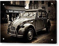 Acrylic Print featuring the photograph Citroen 2cv / Meyssac by Barry O Carroll