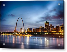City Of St. Louis Skyline. Image Of St. Louis Downtown With Gate Acrylic Print by Alex Grichenko