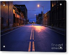 City Street Acrylic Print by Denis Tangney Jr