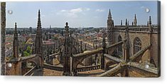 City View From A Cathedral Roof Acrylic Print by Panoramic Images