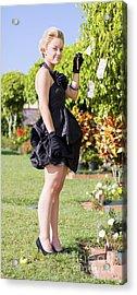Classy Rich Woman Acrylic Print by Jorgo Photography - Wall Art Gallery