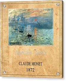 Claude Monet 2 Acrylic Print by Andrew Fare