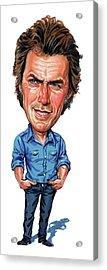 Clint Eastwood Acrylic Print by Art