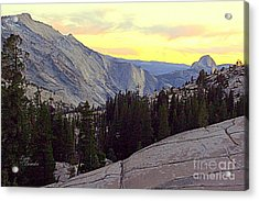 Cloud's Rest And Half Dome Acrylic Print