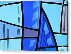 Coal Harbour Triptych Part 1 Acrylic Print by Gilroy Stained Glass