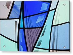 Coal Harbour Triptych Part 2 Acrylic Print by Gilroy Stained Glass