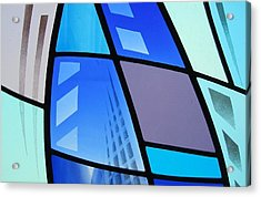 Coal Harbour Triptych Part 3 Acrylic Print by Gilroy Stained Glass