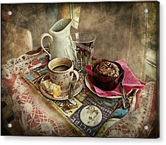 Coffee Time Acrylic Print by Barbara Orenya