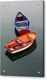Colorful Boats Acrylic Print by Mikel Martinez de Osaba