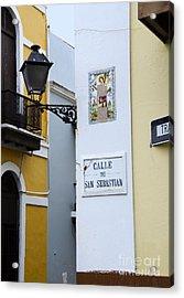 Colorful Old San Juan Acrylic Print